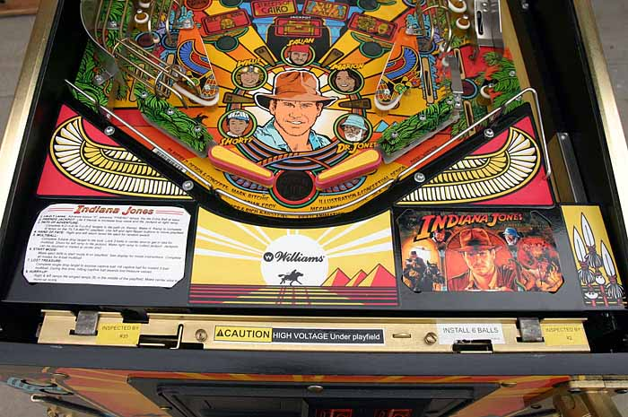 Indiana Jones Pinball Machine Restoration Decals